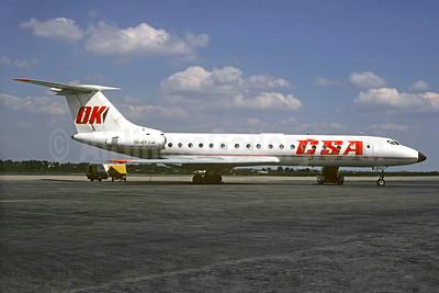 CSA-Ceskoslovenske Aerolinie (Czech Airlines) Tupolev Tu-134A OK-EFJ (msn 4323128) PRG (Christian Volpati Collection). Image: 930724.