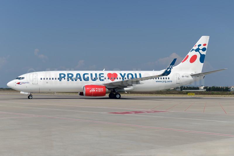 "Special ""Prague Loves You - Prague Airport"" promotional livery"