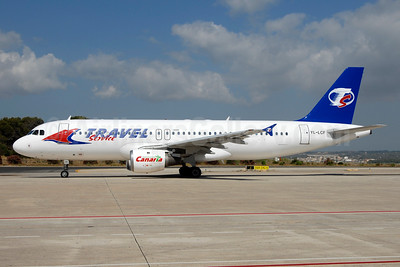 Travel Service Airlines (Czech Republic) (LatCharter) Airbus A320-212 YL-LCF (msn 446) PMI (Ton Jochems). Image: 900516.
