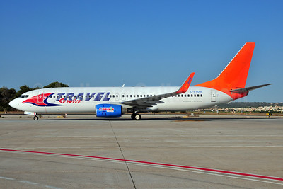 Travel Service Airlines (Czech Republic) (Sunwing Airlines) Boeing 737-808 WL C-FTDW (msn 34704) (Sunwing colors) PMI (Ton Jochems). Image: 907059.
