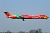 Danish Air Transport-DAT McDonnell Douglas DC-9-83 (MD-83) OY-RUE (msn 49936) (Coca-Cola - FIFA World Cup Trophy Tour) SEN (Keith Burton). Image: 922362.