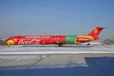 Danish Air Transport-DAT McDonnell Douglas DC-9-83 (MD-83) OY-RUE (msn 49936) (Coca-Cola - FIFA World Cup Trophy Tour) YYZ (TMK Photography). Image: 922352.