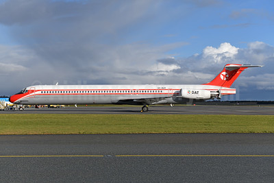 DAT (Danish Air Transport) McDonnell Douglas DC-9-82 (MD-82) OY-RUT (msn 49902) BLL (Ton Jochems). Image: 949399.