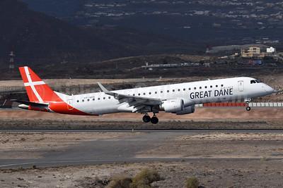 Great Dane Airlines Embraer ERJ 190-200LR (ERJ 195) OY-GDA (msn 19000213) TFS (Richard Vandervord). Image: 949099.