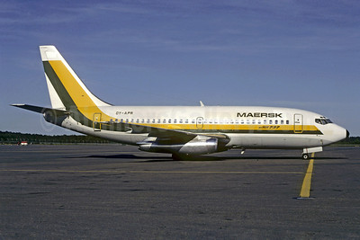 Maersk Air (Denmark) Boeing 737-2L9 OY-APR (msn 22407) (Guyana Airways colors) ARN (Jacques Guillem Collection). Image: 911944.