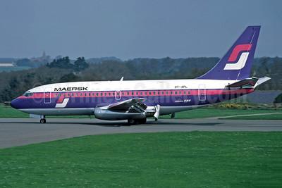 Maersk Air (Denmark) Boeing 737-2L9 OY-APL (msn 22070) (Supair colors) JER (Richard Vandervord). Image: 948943.