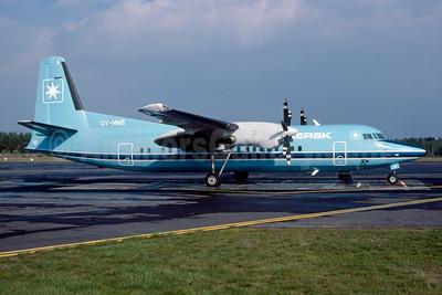 Maersk Air (Denmark) Fokker F. 27 Mk. 050 OY-MMS (msn 20148) (Bruce Drum Collection). Image: 923596.