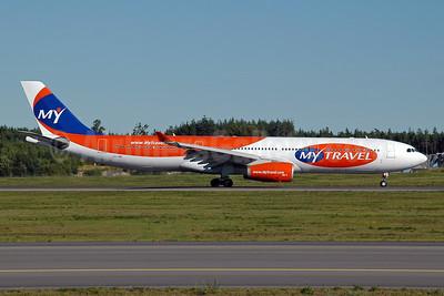 MyTravel Airways (Scandinavia) Airbus A330-343 OY-VKI (msn 357) ARN (Ton Jochems). Image: 953610.