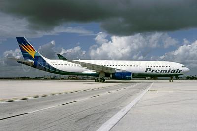 Premiair Airbus A330-343 OY-VKH (msn 356) (Airtours tail) MIA (Bruce Drum). Image: 105503.