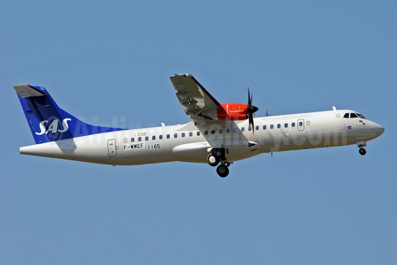 Scandinavian Airlines-SAS (Jettime) ATR 72-212A (ATR 72-600) F-WWEF (OY-JZF) (msn 1165) TLS (Karl Cornil). Image: 923928.