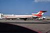 """Sterling Airways (1st) Boeing 727-2J4 OY-SBF (msn 22080) """"Skybus"""" MIA (Bruce Drum). Image: 104149."""