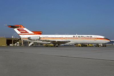 Sterling Airways (1st) Boeing 727-2L8 OY-SBJ (msn 21040) (Aviogenex colors) MUC (Christian Volpati Collection). Image: 948743.