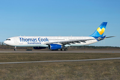 Thomas Cook Airlines Scandinavia Airbus A330-343 OY-VKG (msn 349) (Sunny Heart) ARN (Stefan Sjogren). Image: 922415.