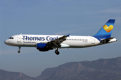 Thomas Cook Airlines Scandinavia (Thomas Cook.com) Airbus A320-214 OY-VKS (msn 1954) PMI (Javier Rodriguez). Image: 923094.