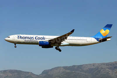 Thomas Cook Airlines Scandinavia Airbus A330-343 OY-VKG (msn 349)  (Sunny Heart) PMI (Javier Rodriguez). Image: 923096.