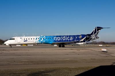 Nordica - LOT Polish Airlines Bombardier CRJ900 (CL-600-2D24) ES-ACD (msn 15276) MUC (Gunter Mayer). Image: 954317.