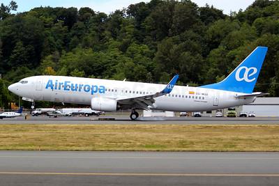 Air Europa Boeing 737-85P WL EC-MJU (msn 60584) BFI (Joe G. Walker). Image: 933428.