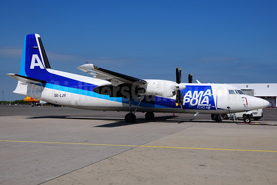 Amapola Flyg Fokker F.27 Mk. 050 SE-LJY (msn 20259) (ANA colors) GOT (Ton Jochems). Image: 933389.