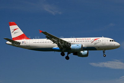 Austrian Airlines Airbus A320-214 OE-LBI (msn 1937) LHR (SPA). Image: 933112.