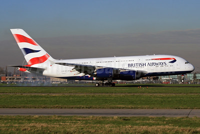 British Airways Airbus A380-841 G-XLEJ (msn 192) LHR. Image:  932845.