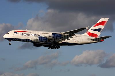 British Airways Airbus A380-841 G-XLEG (msn 161) LHR (SPA). Image: 933960.