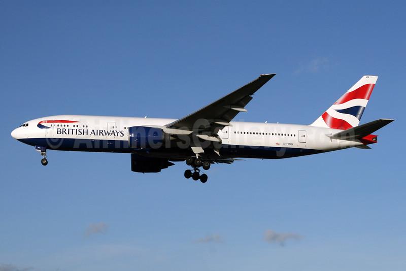 British Airways Boeing 777-236 ER G-YMMK (msn 30312) LHR (SPA). Image: 931055.