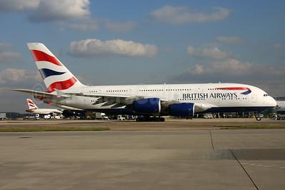 British Airways Airbus A380-841 G-XLEH (msn 163) LHR. Image: 934212.