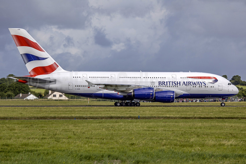 British Airways Airbus A380-841 G-XLEA (msn 095) SNN (SM Fitzwilliams Collection). Image: 913273.