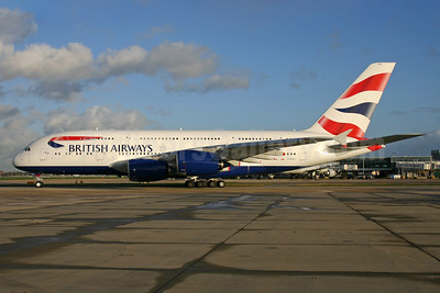 British Airways Airbus A380-841 G-XLEJ (msn 192) LHR. Image:  932844.