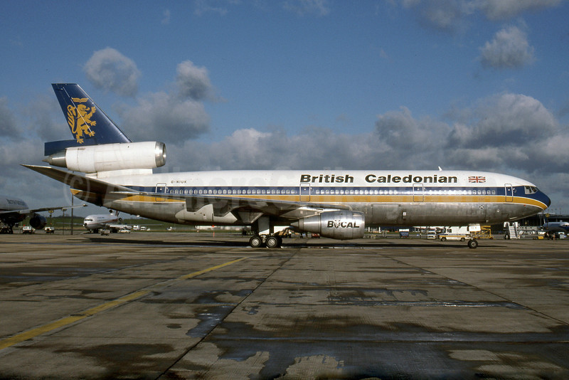 British Caledonian Airways McDonnell Douglas DC-10-30 G-NIUK (msn 46932) LGW (Rob Rindt Collection). Image: 925506.