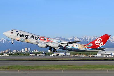 "Cargolux's ""You name it, we fly it"" logo jet"