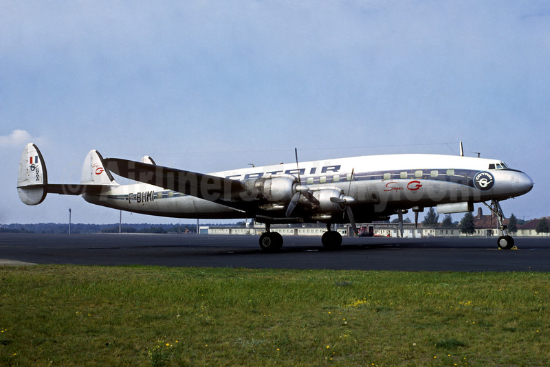 Catair Lockheed 1049G-82-98 Super G Constellation F-BHMI (msn 4668) (Air France colors) TXL (Jacques Guillem Collection). Image: 934321.