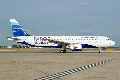 Atlantic Airways-Faroe Islands Airbus A320-214 OY-RCJ (msn 7465) LHR (Wingnut). Image: 943498.