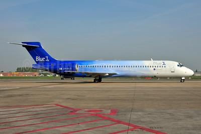 Blue1 Boeing 717-2CM OH-BLG (msn 55059) BRU (Ton Jochems). Image: 953331.