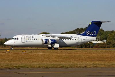 Blue1 BAe RJ100 A6-AAB (OH-SAN) (msn E3387) SEN (Keith Burton). Image: 906667.