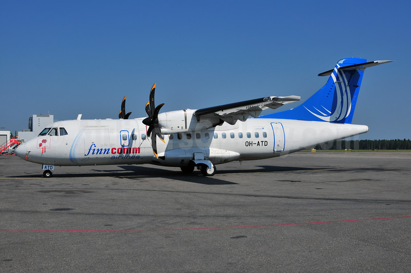 FinnComm Airlines (Finnish Commuter Airlines) ATR 42-500 OH-ATD (msn 655) HEL (Ton Jochems). Image: 906644.