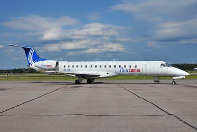 FinnComm Airlines (Finnish Commuter Airlines) Embraer ERJ 145LU (EMB-145LU) OH-EBF (msn 145387) HEL (Ton Jochems). Image: 953944.