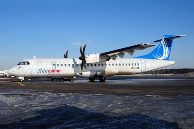 FinnComm Airlines (Finnish Commuter Airlines) ATR 72-212A (ATR 72-500) OH-ATK (msn 848) HEL (Ton Jochems). Image: 953943.