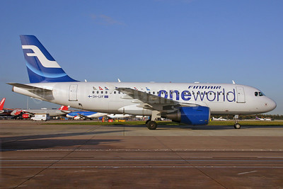 Finnair Airbus A319-112 OH-LVF (msn 1808) (Oneworld) MAN (Andrew Yarwood). Image: 901488.