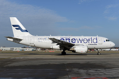 Finnair Airbus A319-112 OH-LVD (msn 1352) (Oneworld) BRU (Ton Jochems). Image: 936985.