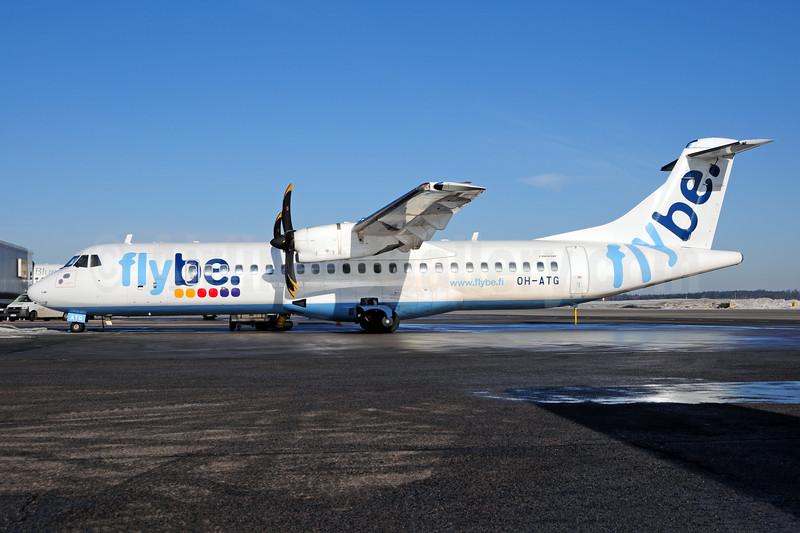Flybe Finland (FinnComm Airlines) ATR 72-212A (ATR 72-500) OH-ATG (msn 757) HEL (Ton Jochems). Image: 908074.