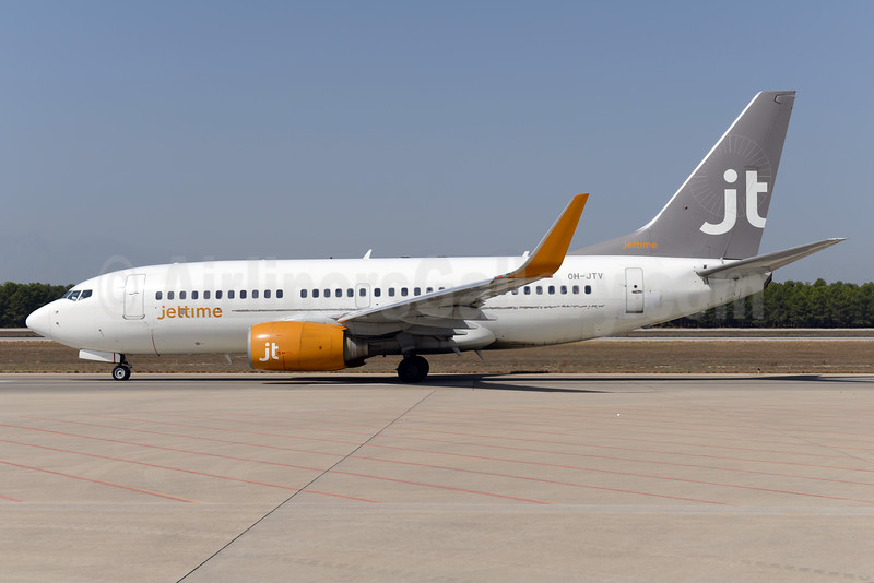 Jettime (Finland) Boeing 737-7L9 WL OH-JTV (msn 28015)  AYT (Ton Jochems). Image: 932461.