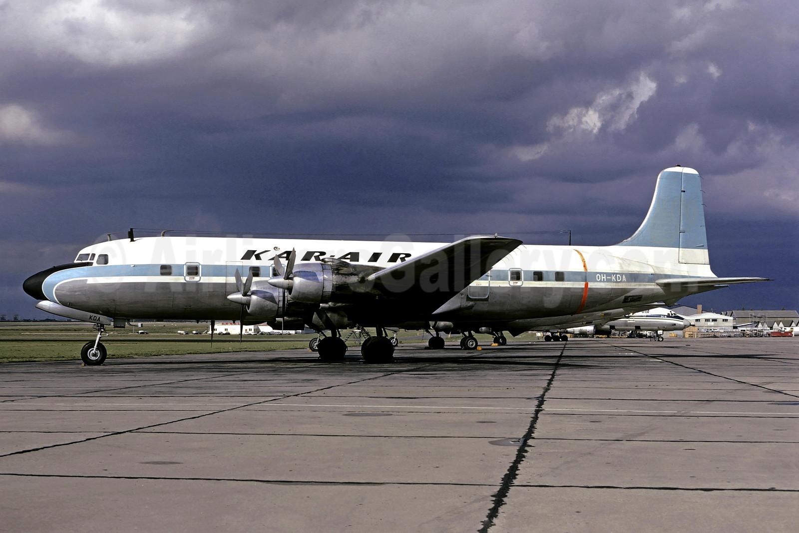Kar-Air Douglas DC-6B Swingtail OH-KDA (msn 45202) (United Nations colors) LBG (Christian Volpati). Image: 900856.