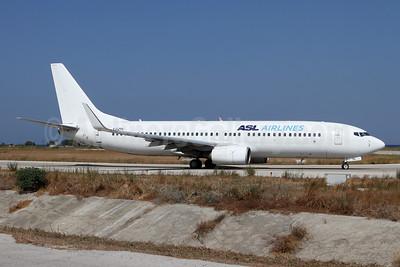 ASL Airlines (France) Boeing 737-8K5 SSWL F-GZTV (msn 30882) RHO (Andi Hiltl). Image: 947689.