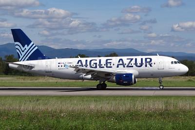 Aigle Azur Transport Aeriens (2nd) Airbus A319-114 F-HBMI (msn 639) BSL (Paul Bannwarth). Image: 928668.