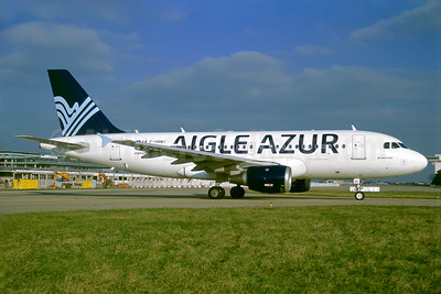 Aigle Azur Transport Aeriens (2nd) Airbus A319-114 F-HBMI (msn 639) ORY (Jacques Guillem). Image: 935154.