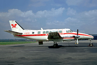 Air Alpes-AA Beechcraft 99A F-BTMK (msn U-130) (Mey-Air colors) LBG (Christian Volpati). Image: 948735.