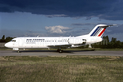 Air France by Air Littoral Fokker F.28 Mk. 0070 F-GLIX (msn 11558) ORY (Jacques Guillem). Image: 945405.