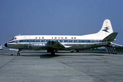 Air Inter Vickers Viscount 708 F-BLHI (msn 036) ORY (Jacques Guillem Collection). Image: 948712.
