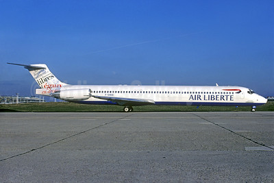 "Air Liberte's 1998 ""Libres"" Human Rights livery"